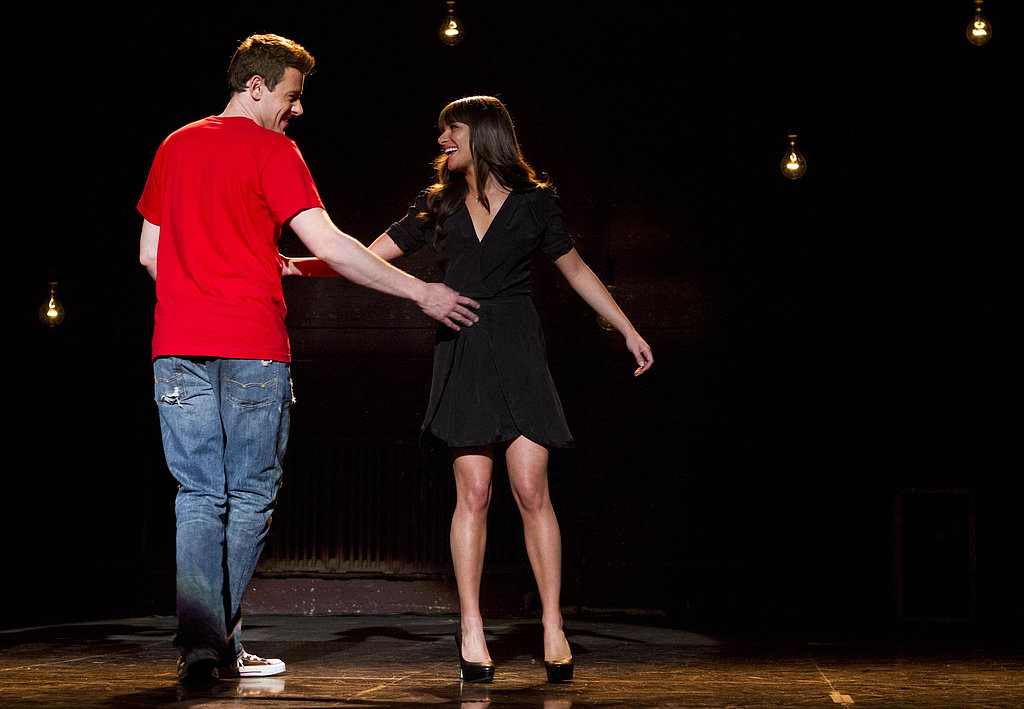 """When she heads home to Ohio, though, she returns to her roots — and Finn, who encourages her to sing a song that's dear to her heart when she auditions for Funny Girl. And just like that, we get a glimpse of """"Don't Stop Believin'"""" Rachel."""