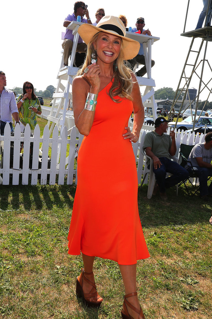 Christie Brinkley showed off her tan at the Bridgehampton Polo Club's opening day in July.