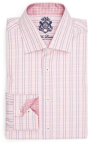 English Laundry Trim Fit Dress Shirt Pink 16 - 32/33