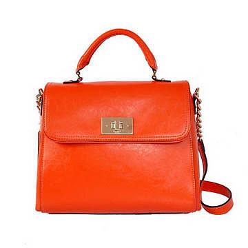 Kate Spade Irving Place Little Nadine Leather Satchel Bag Orange