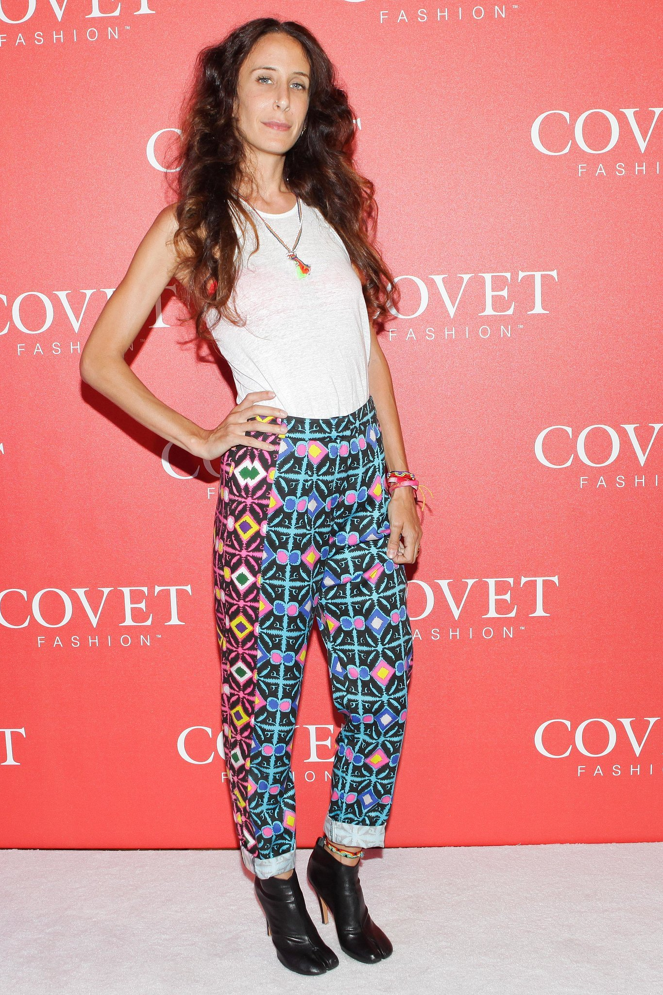 At the Covet launch party, Mara Hoffman modeled her signature prints.