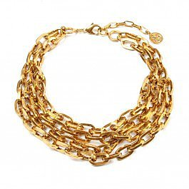 Ben-Amun Foiled Gold Chain Necklace