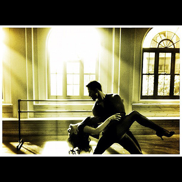 Lea shared this steamy snap of a Glee dance rehearsal with costar Dean Geyer in August 2012. Source: Instagram user msleamichele