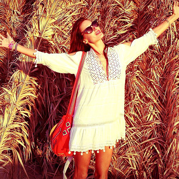 Alessandra Ambrosio embraced the sunshine while on vacation in Greece. Source: Instagram user alessandraambrosio
