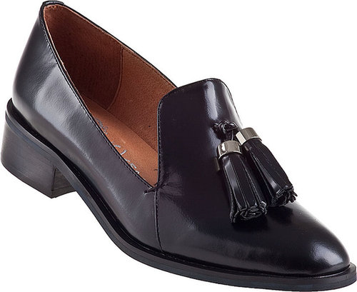 JEFFREY CAMPBELL Lawford Loafer Black Leather