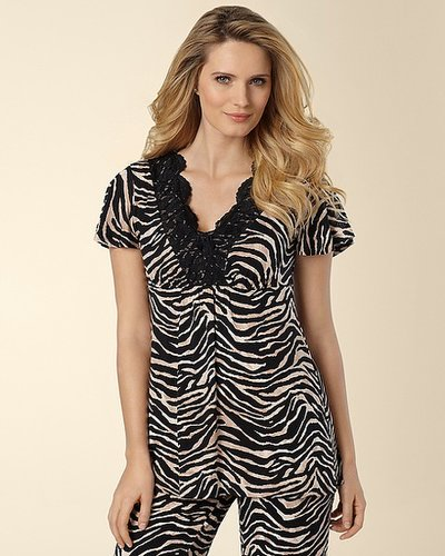 Untamed Animal Print V-Neck Top