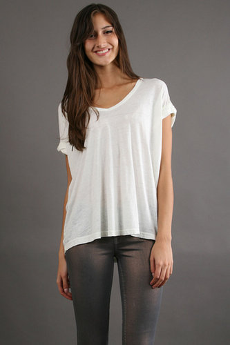 Free People Keep Me V Tee in Ivory