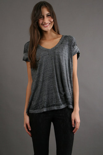 Free People Keep Me V Tee in Charcoal