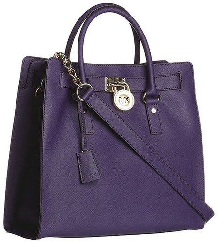 MICHAEL Michael Kors - Hamilton Large North/South Tote (Iris) - Bags and Luggage