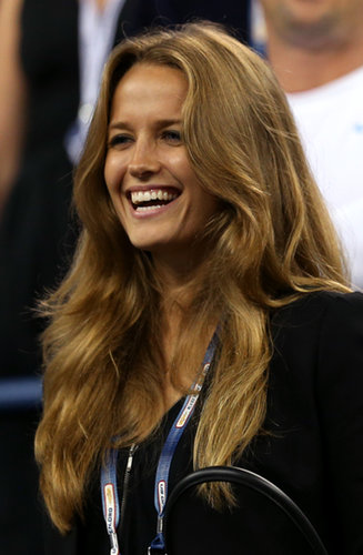 Andy Murray's girlfriend Kim Sears watched as he won his first men's singles match.