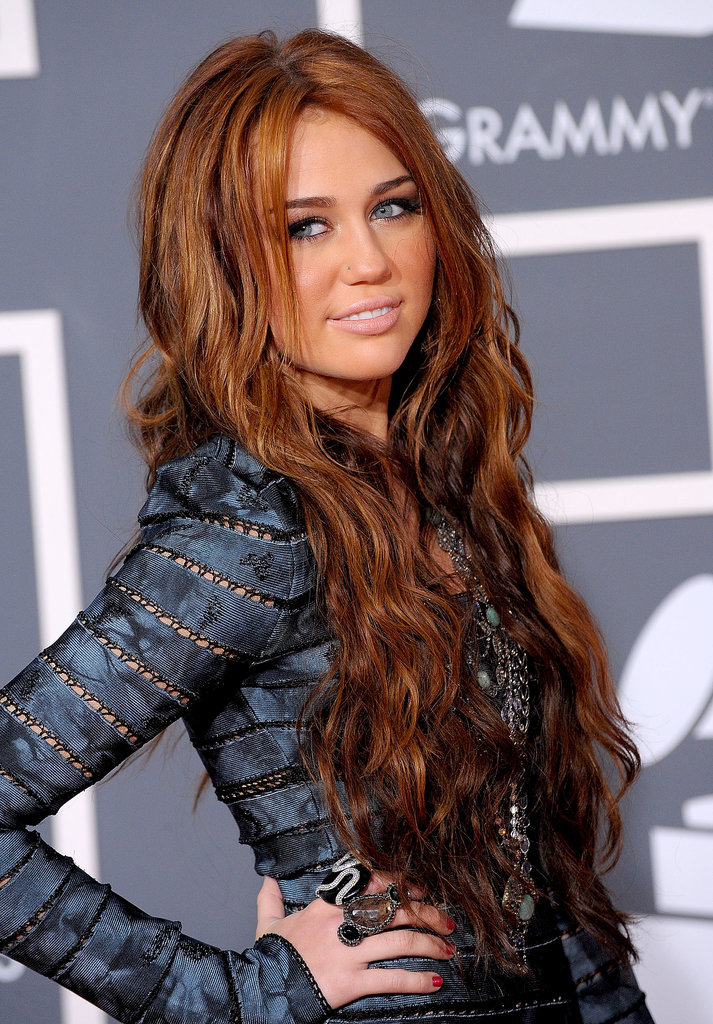 celebrity hair amp beauty pictures of miley cyrus then