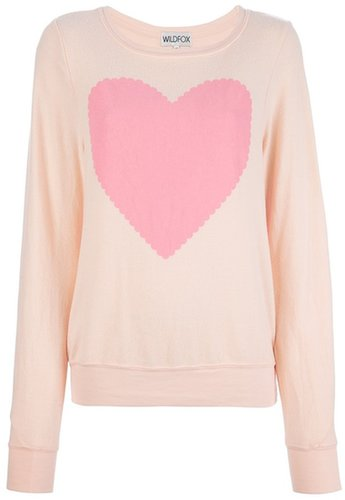 Wildfox heart print sweater
