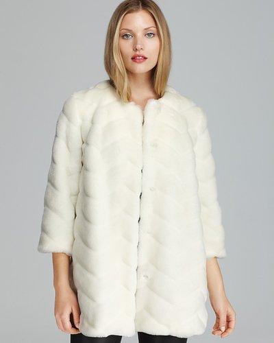 Sam Edelman Coat - Luci Chevron Faux Fur