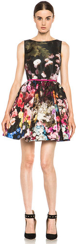 Red Valentino Hazy Garden Print in Rose