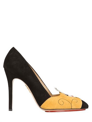 "Charlotte Olympia - 110mm ""Sleeping Princess"" Wildlederpumps"