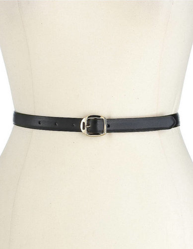 LAUREN RALPH LAUREN Saffiano Skinny Leather Belt