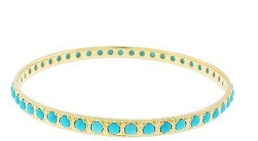 Irene Neuwirth Turquoise Bangle - Yellow Gold