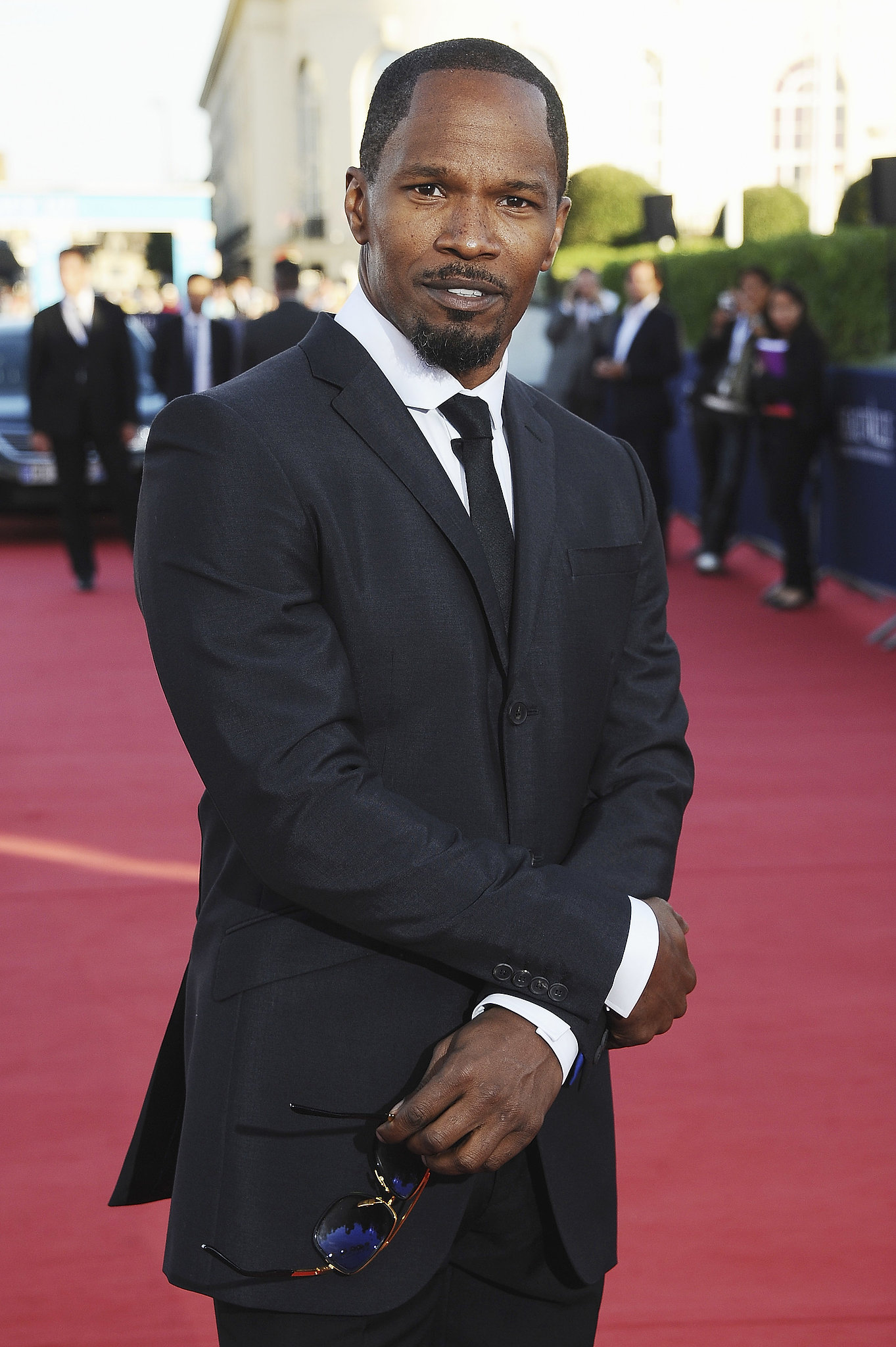 Jamie Foxx looked suave at the premiere of White House Down.