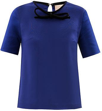 Roksanda Ilincic Lapis blue round-neck blouse