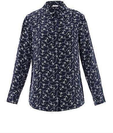 Equipment Reese anchor-print blouse