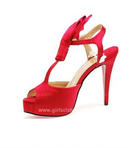 Red Bow Christian Louboutin Ernesta 120mm for Cheap