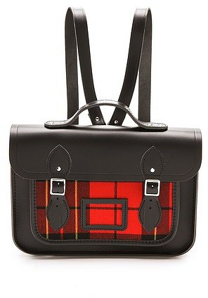 "Cambridge satchel 13"" Tartan Satchel Backpack"