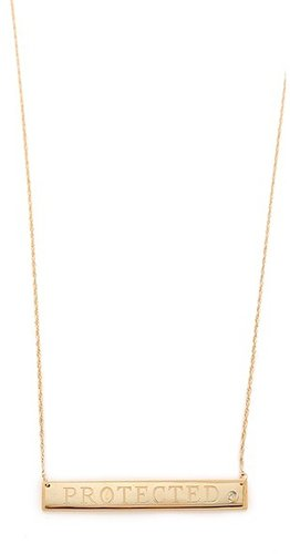 Jennifer zeuner jewelry Protected Necklace with Diamond
