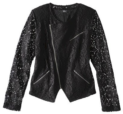 Mossimo® Women's Black Ponte Lace Jacket
