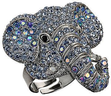 Andrew Hamilton Crawford Crystal Elephant Ring