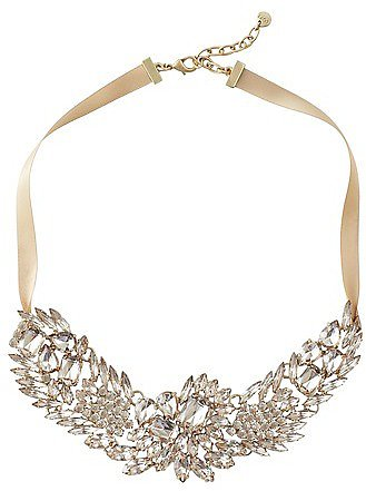Short Crystal Bib Necklace