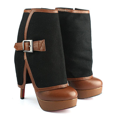140mm Cuff Ankle Boots BrownChristian Louboutin Armony Removable