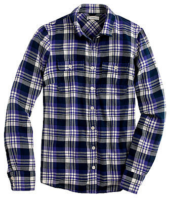 Acropolis blue plaid flannel shirt