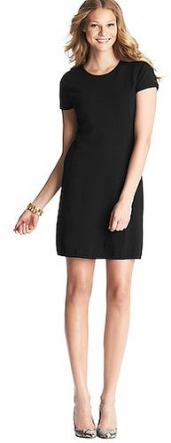 Back Zip Short Sleeve Dress