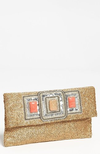 Moyna 'Three Stone' Beaded Clutch