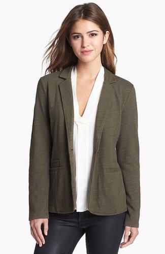 Caslon® Roll Sleeve Knit Blazer