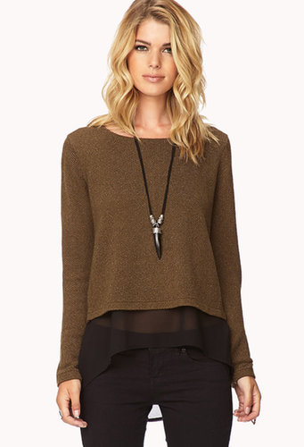 FOREVER 21 City-Chic Layer Sweater