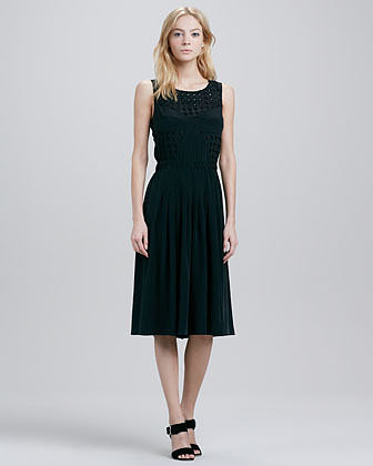 Tracy Reese Sleeveless Cutout Combo Dress
