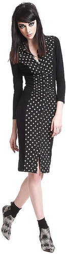 TRACY REESE Polka Dot Colorblock Dress