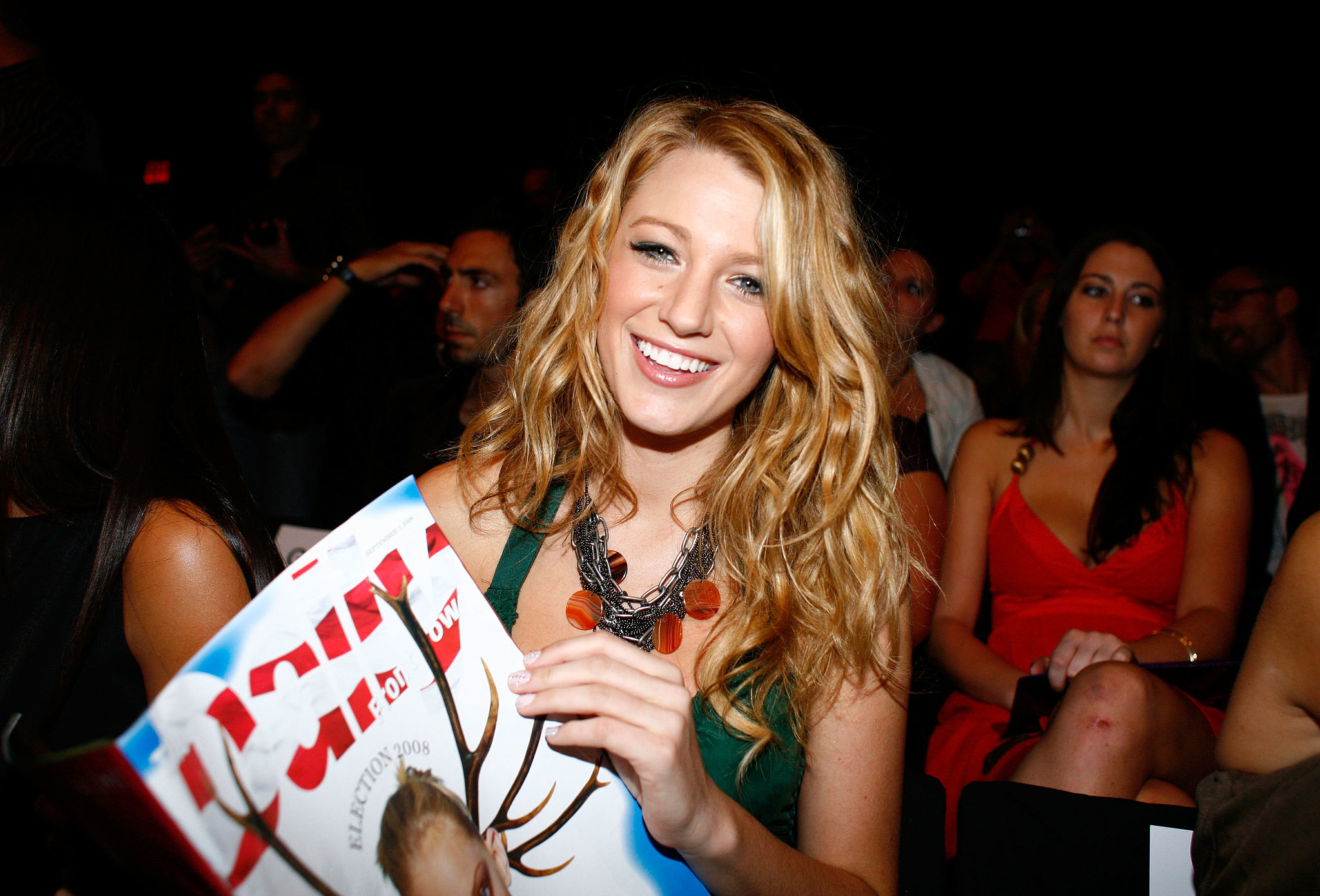 Blake Lively picked up a copy of The Daily during Spring Fashion Week in February 2008 at Bryant Park.