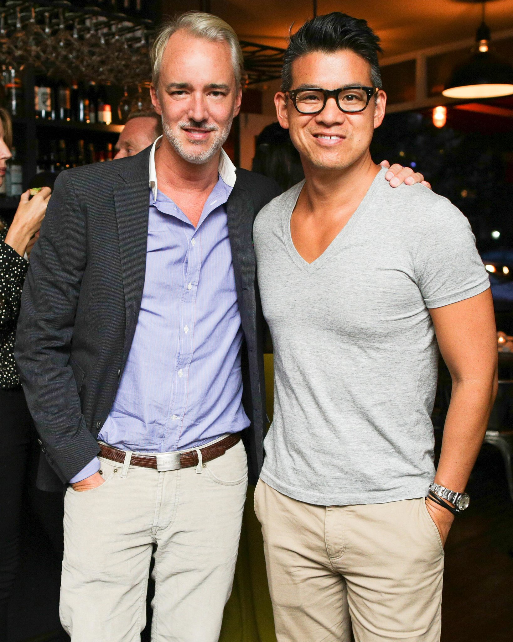 Peter Som dined with Michael Bastian at the designer's New York event.