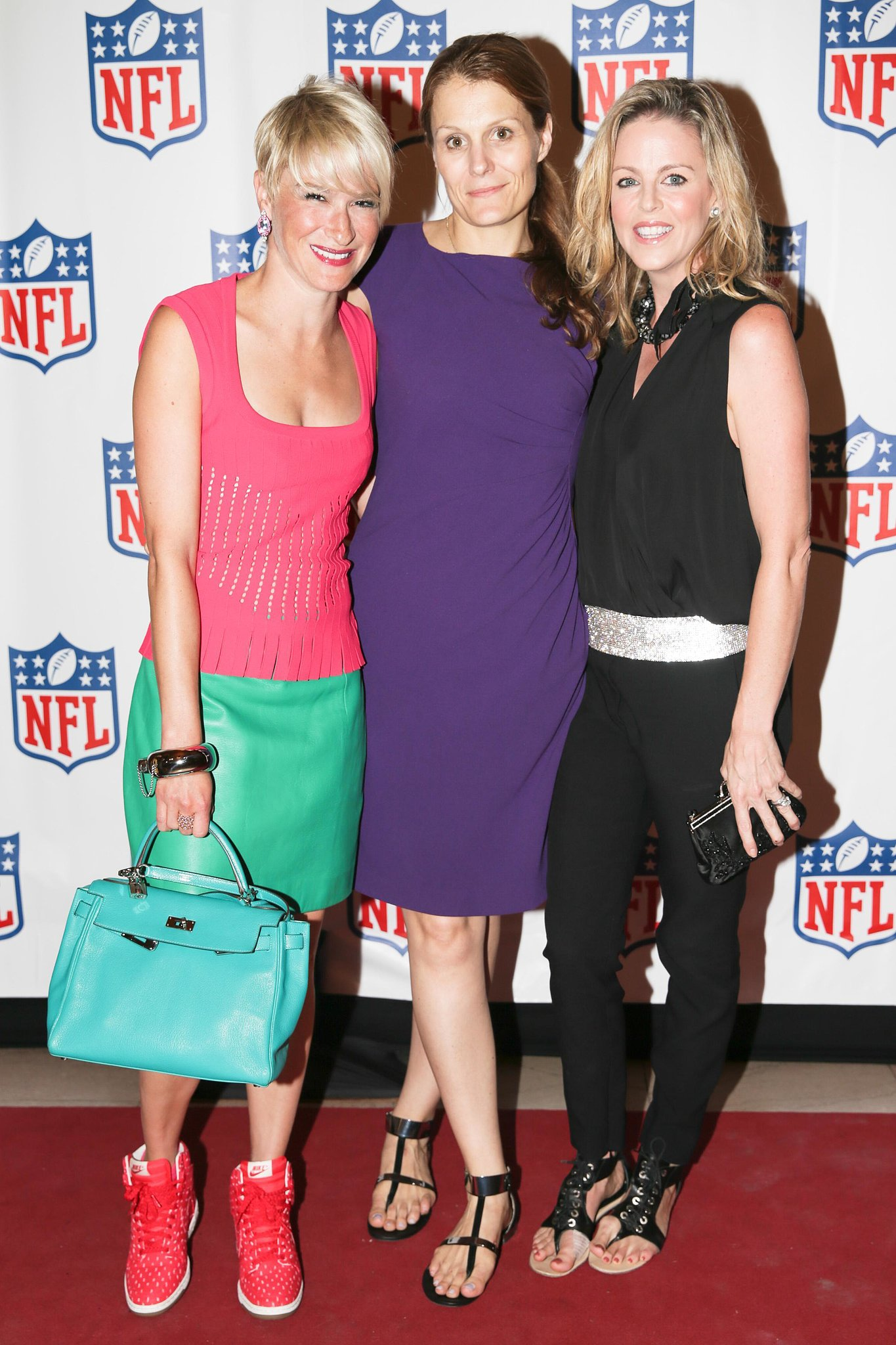 Touchdown! Julie Macklowe, Anne Vincent, and Elizabeth Petersen scored an invite to Vogue's NFL event.