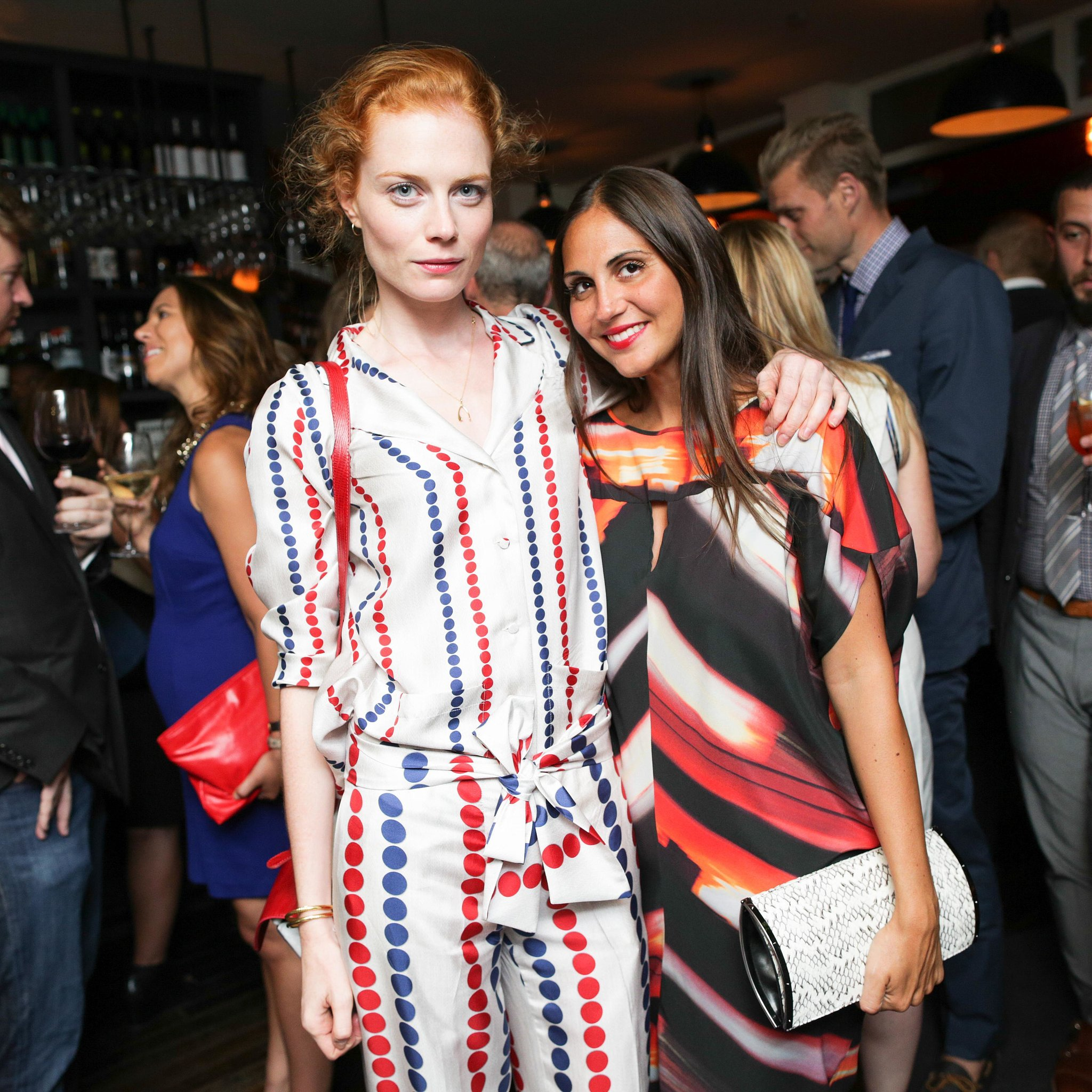 Jessica Joffe and Sabine Heller dined (colorfully!) with Michael Bastian at his Corsino dinner.