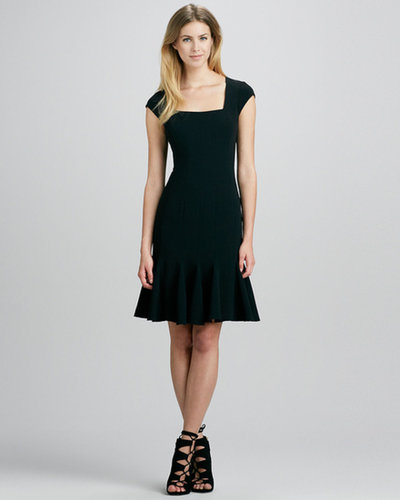 BCBG Cap-Sleeve Flare-Hem Dress