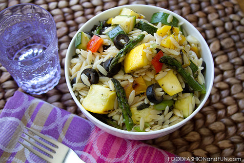 Let's Eat | Grilled Vegetable Orzo