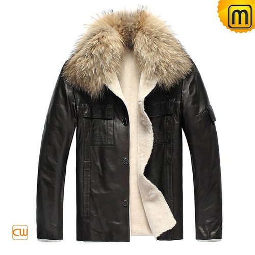 Fur Leather Jackets for Men CW819183