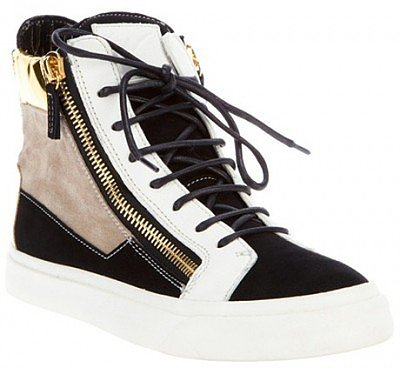 GIUSEPPE ZANOTTI BLACK DOUBLE ZIPPER SNEAKERS