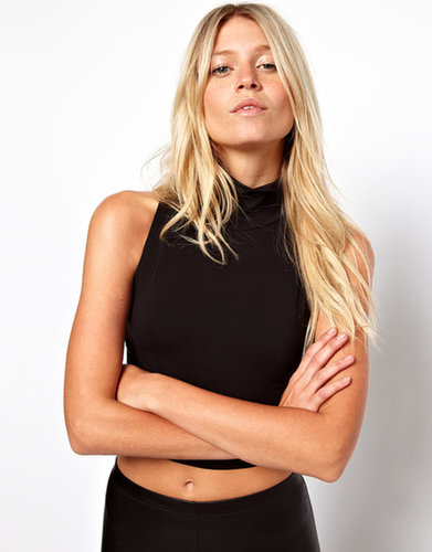 ASOS Crop Top with Polo Neck