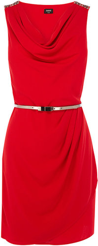 Lola Embellished Cowl Shift Dress