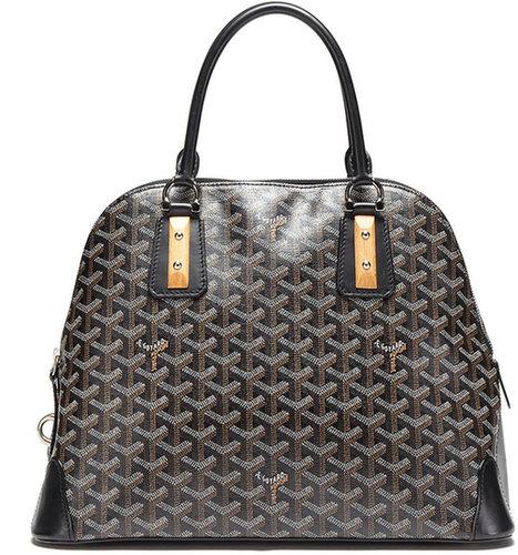 Black Monogram Coated Linen Van Dome Bag