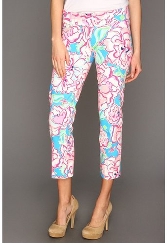 Lilly Pulitzer - Luxury Capri (Flutter Blue Lucky Charm) - Apparel